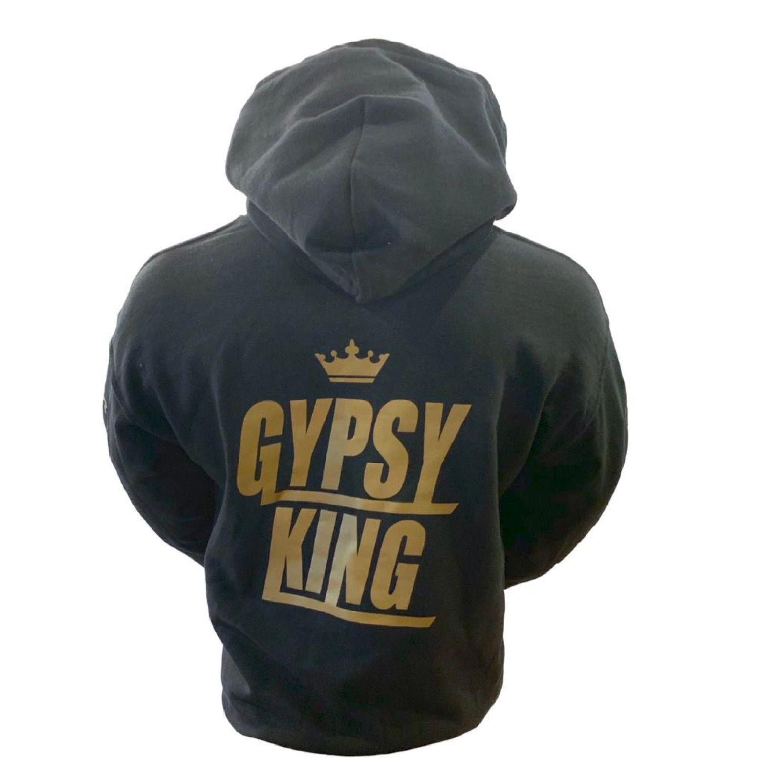 TYSON FURY HOODIE BLACK AND GOLD//WHITE GYPSY KING TEAM FURY